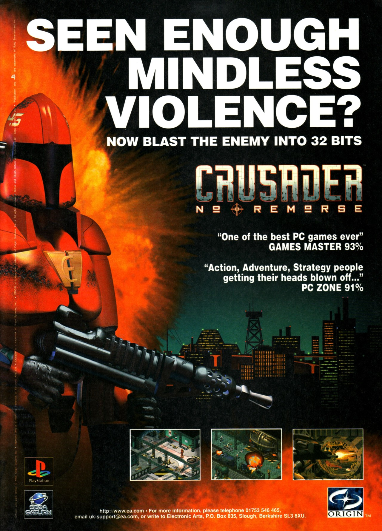 Video Game Ad of the Day: Crusader: No Remorse