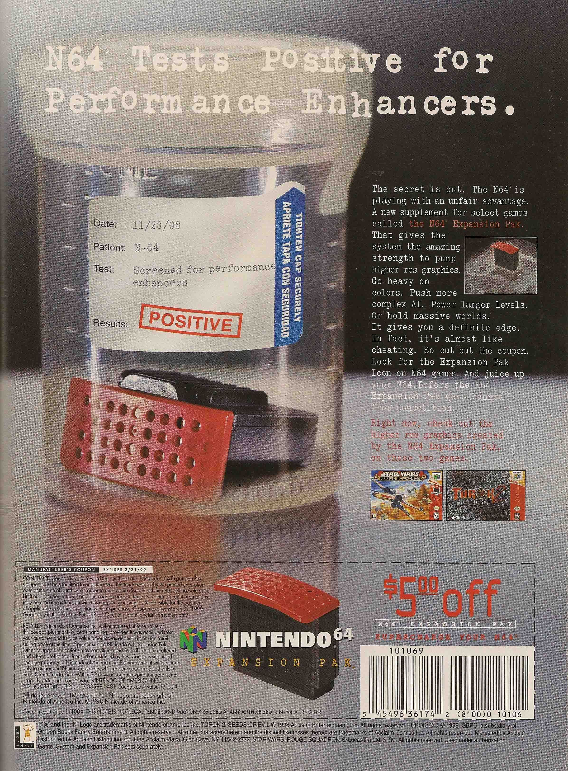 Video Game Ad Of The Day Nintendo 64 Expansion Pak