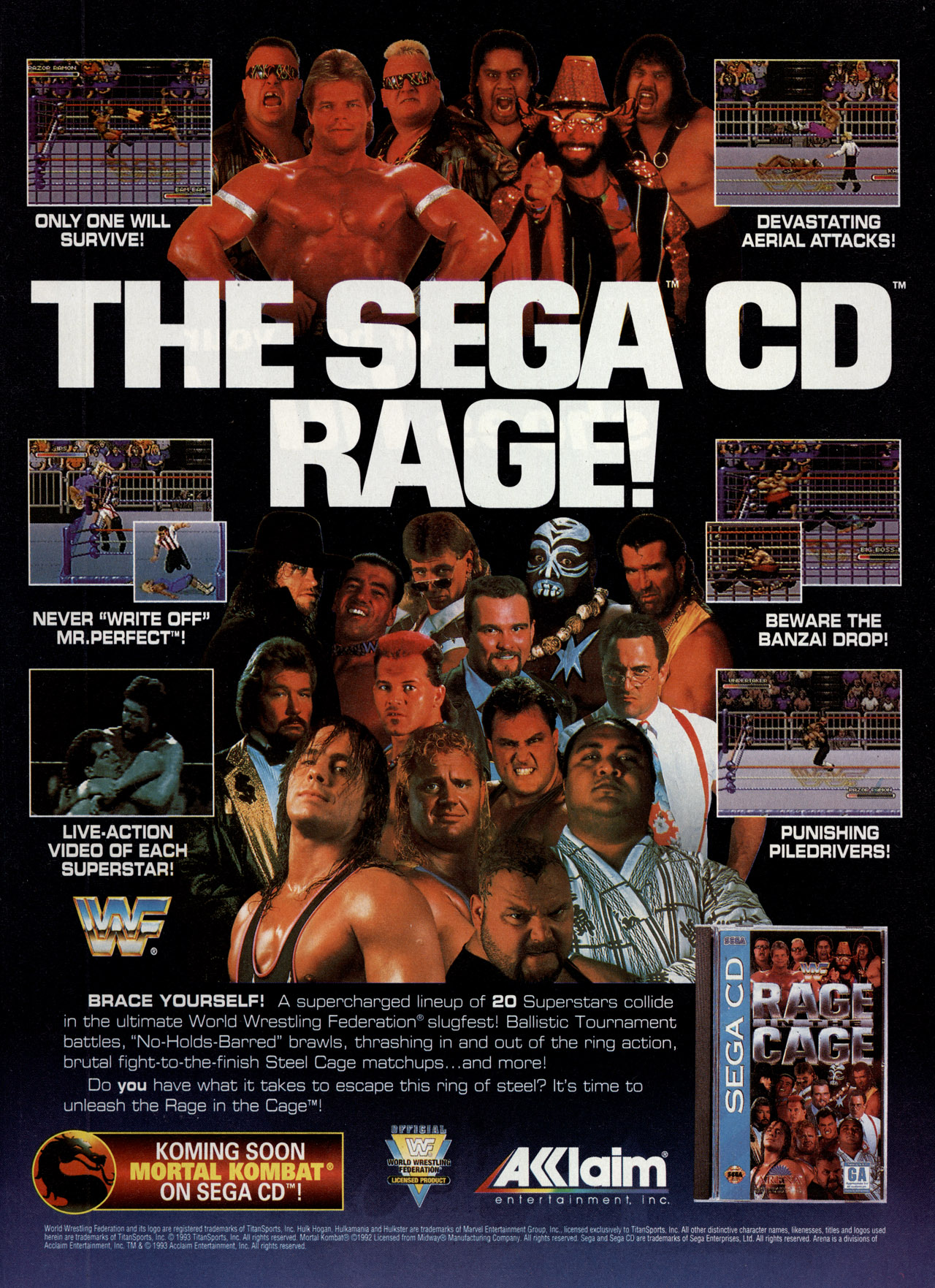 video game ad of the day  wwf rage in the cage