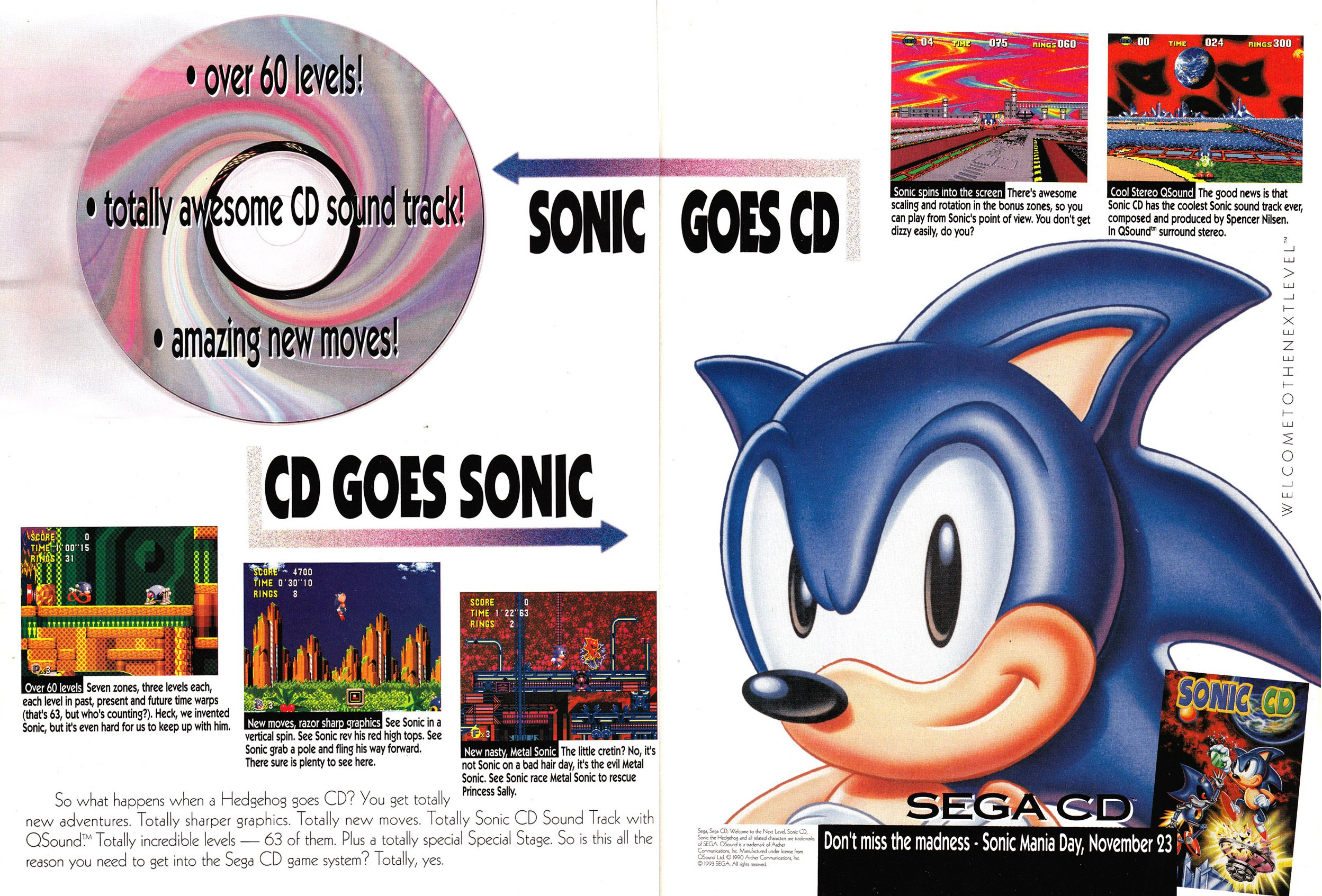 Video Game Ad Of The Day Sonic The Hedgehog Cd